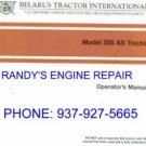 operators owners manual BELARUS 250AS 250 TRACTOR