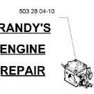 part carburetor husqvarna chainsaw 503280410 model list