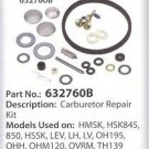 632760B Tecumseh Carburetor Kit For Part Number 632760, 632760A Sears Craftsman