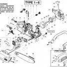 choke lever rod Poulan Craftsman 530037805, 530047989