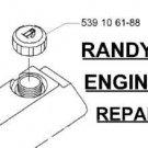 ANTI SPLASH FUEL GAS CAP FITS CUB CADET SCAG SIMPLICITY