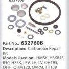 CARBURETOR REBUILD REPAIR KIT TECUMSEH OHH50 632760B