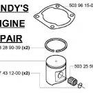 OEM part Piston kit assembly 503976171 Husqvarna 375 K