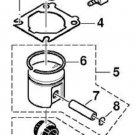 Dolmar, Makita # 021131111 37MM Piston Kit Assembly with Cylinder Head Gasket