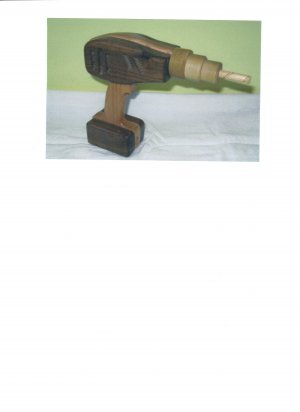 Wooden Toy Drill