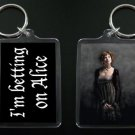 TWILIGHT NEW MOON keychain / keyring I'M BETTING ON ALICE