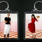 PUSHING DAISIES Ned and Chuck keychain keyring Lee Pace Anna Friel 2