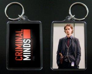 CRIMINAL MINDS Dr. Spencer Reid keychain / keyring MATTHEW GRAY GUBLER 3