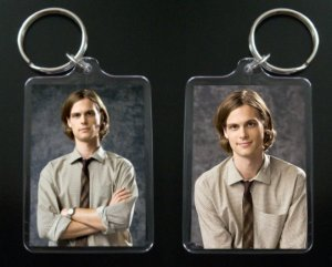 CRIMINAL MINDS Dr. Spencer Reid keychain / keyring MATTHEW GRAY GUBLER 4