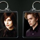 TWILIGHT NEW MOON keychain / keyring ALICE CULLEN and JASPER HALE