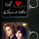 TWILIGHT NEW MOON keychain / keyring I HEART JASPER AND ALICE