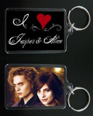 TWILIGHT NEW MOON keychain / keyring I HEART JASPER AND ALICE