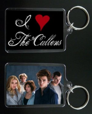 TWILIGHT keychain / keyring I HEART THE CULLENS