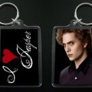 TWILIGHT NEW MOON keychain / keyring I HEART JASPER Jackson Rathbone