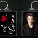 TWILIGHT NEW MOON keychain / keyring I HEART EDWARD CULLEN Robert Pattinson #2