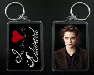 TWILIGHT NEW MOON keychain / keyring I HEART EDWARD CULLEN Robert Pattinson #2
