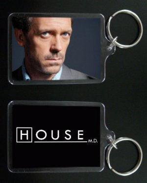 HOUSE MD keychain / keyring HUGH LAURIE Dr Greg House 1