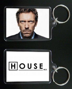 HOUSE MD keychain / keyring HUGH LAURIE Dr Greg House 4