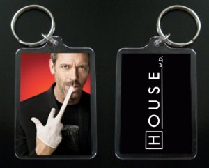 HOUSE MD keychain / keyring HUGH LAURIE Dr Greg House 6
