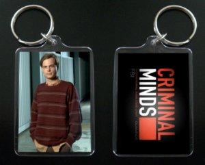 CRIMINAL MINDS Dr. Spencer Reid keychain / keyring MATTHEW GRAY GUBLER 7