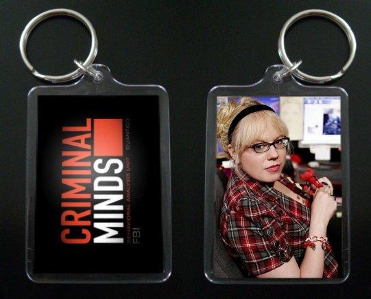 CRIMINAL MINDS Kirsten Vangsness keychain / keyring PENELOPE GARCIA