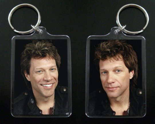 JON BON JOVI 2-sided photo keychain / keyring 1