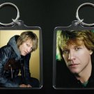 JON BON JOVI 2-sided photo keychain / keyring 2