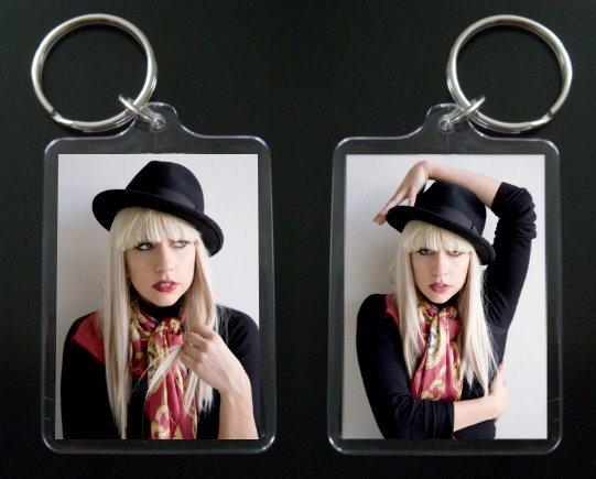 LADY GAGA 2-sided acrylic keychain / keyring Bad Romance #3