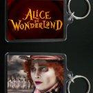 ALICE IN WONDERLAND keychain / keyring MAD HATTER Johnny Depp