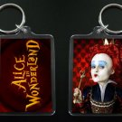 ALICE IN WONDERLAND keychain / keyring RED QUEEN Helena Bonham Carter