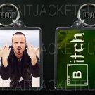 BREAKING BAD keychain / keyring JESSE PINKMAN Aaron Paul BITCH