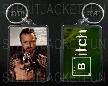 BREAKING BAD keychain / keyring JESSE PINKMAN Aaron Paul BITCH 2