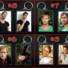 ALEXANDER SKARSGARD keychain / keyring Eric Northman CHOOSE FROM 4 DESIGNS