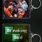 BREAKING BAD keychain / keyring Aaron Paul Bryan Cranston JESSE & WALTER WHITE
