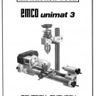 Emco-Unimat 3 Metal Lathe Parts & Service Manual