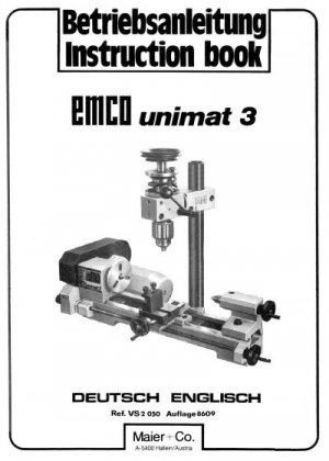 Emco-Unimat 3 Metal Lathe Parts & Service Manual