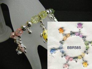 Turtle beaded charm bracelet  BCBBBR585