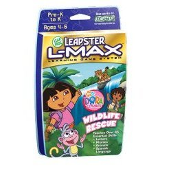 LeapFrog Leapster L-Max Educational Game: Dora the Explorer Wildlife Rescue Cartridge