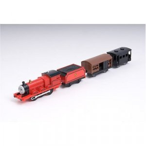 Thomas & Friends Trackmaster Road & Rail James the Tender Engine with 2 Coaches