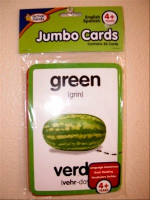 English Spanish Jumbo Cards by Active Minds