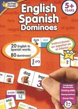 English Spanish Bingo Active Minds learning Games