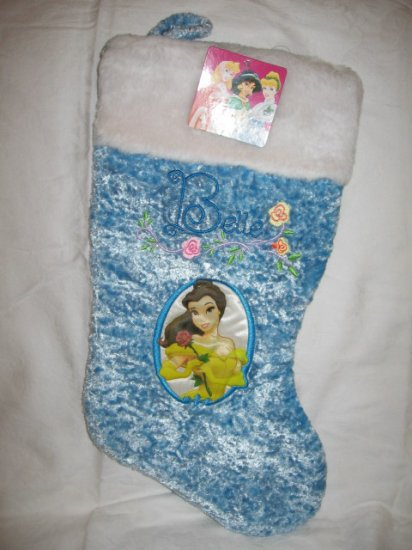 Disney Christmas Stocking Princess BELLE -- NEW with Tag