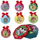 Disney Store Mickey & Friends 7-Pc.Decoupage Ornament Set NEW