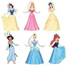 Disney Store Disney Princesses Storybook Ornaments NEW