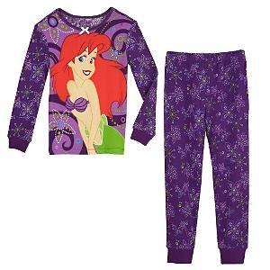 NEW Disney Store Ariel PJ Pals Pajamas size 4