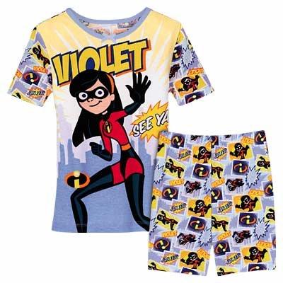 NEW Disney Store Violet PJ Pals Short Pajamas size 6