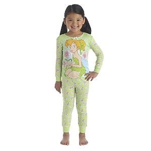 NEW Disney Store Tinker Bell Fairies PJ Pals Pajamas size 6
