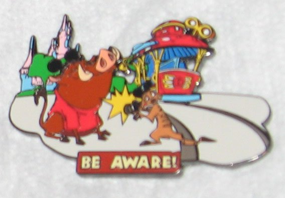 Disney Pins : Wild about Safety - Be Aware! Pin