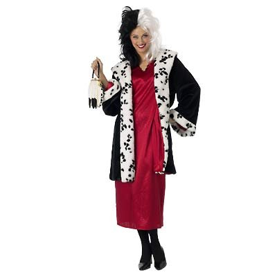 New Disney Cruella Costume for Grown-Ups, Size M  - Free Shipping on this item!