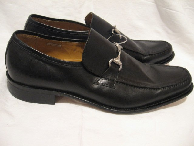$170 New Kenneth COLE Men's Black Loafers Dress Shoes, size 16 - Free shipping